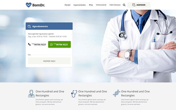 Exemplo de site para médico feito em WordPress.