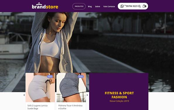 Exemplo de site para loja roupas feito em WordPress.